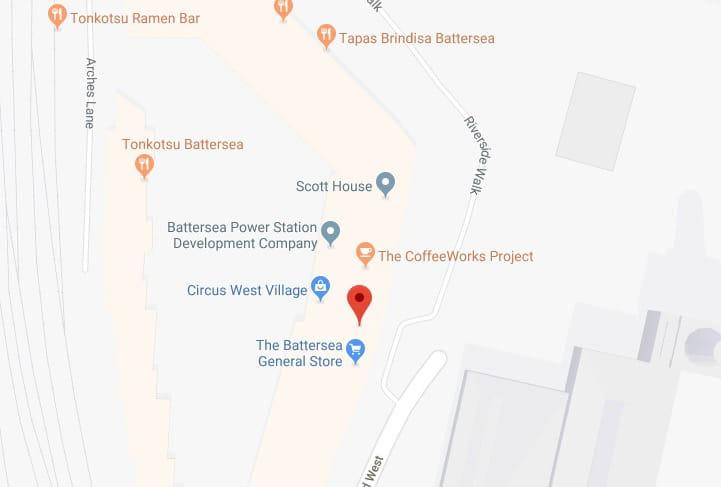 Battersea School Map