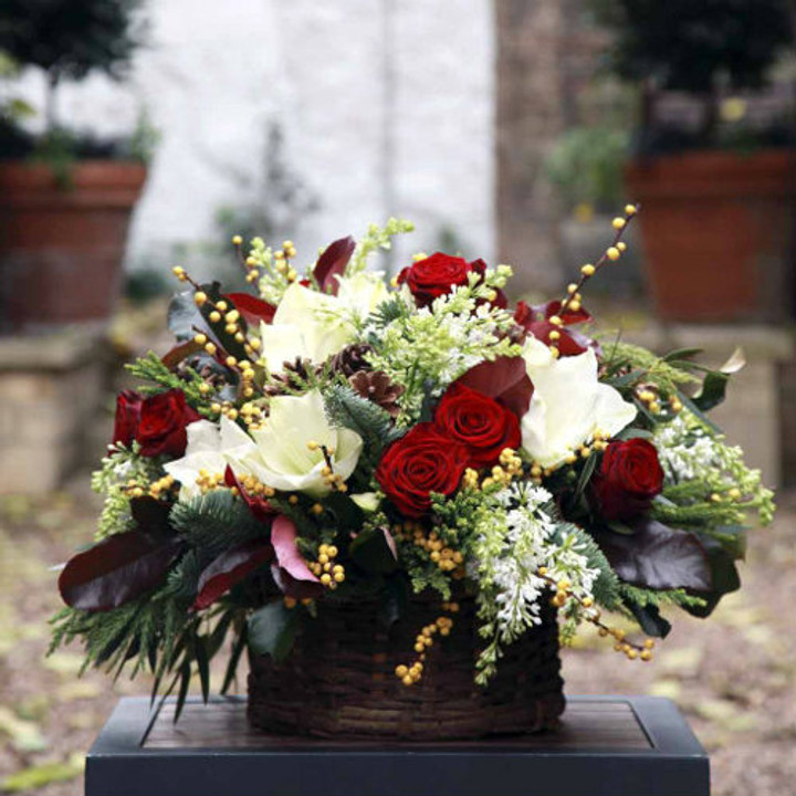 festive flower basket