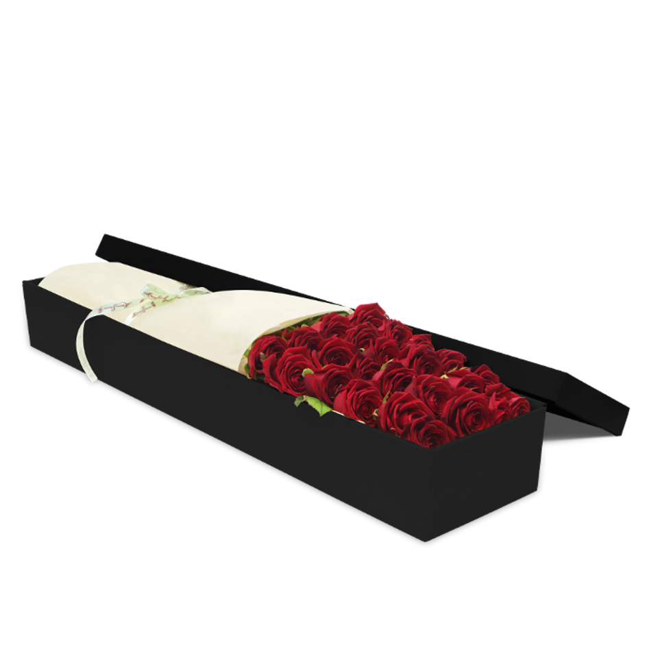 24 Red Roses Gift Box