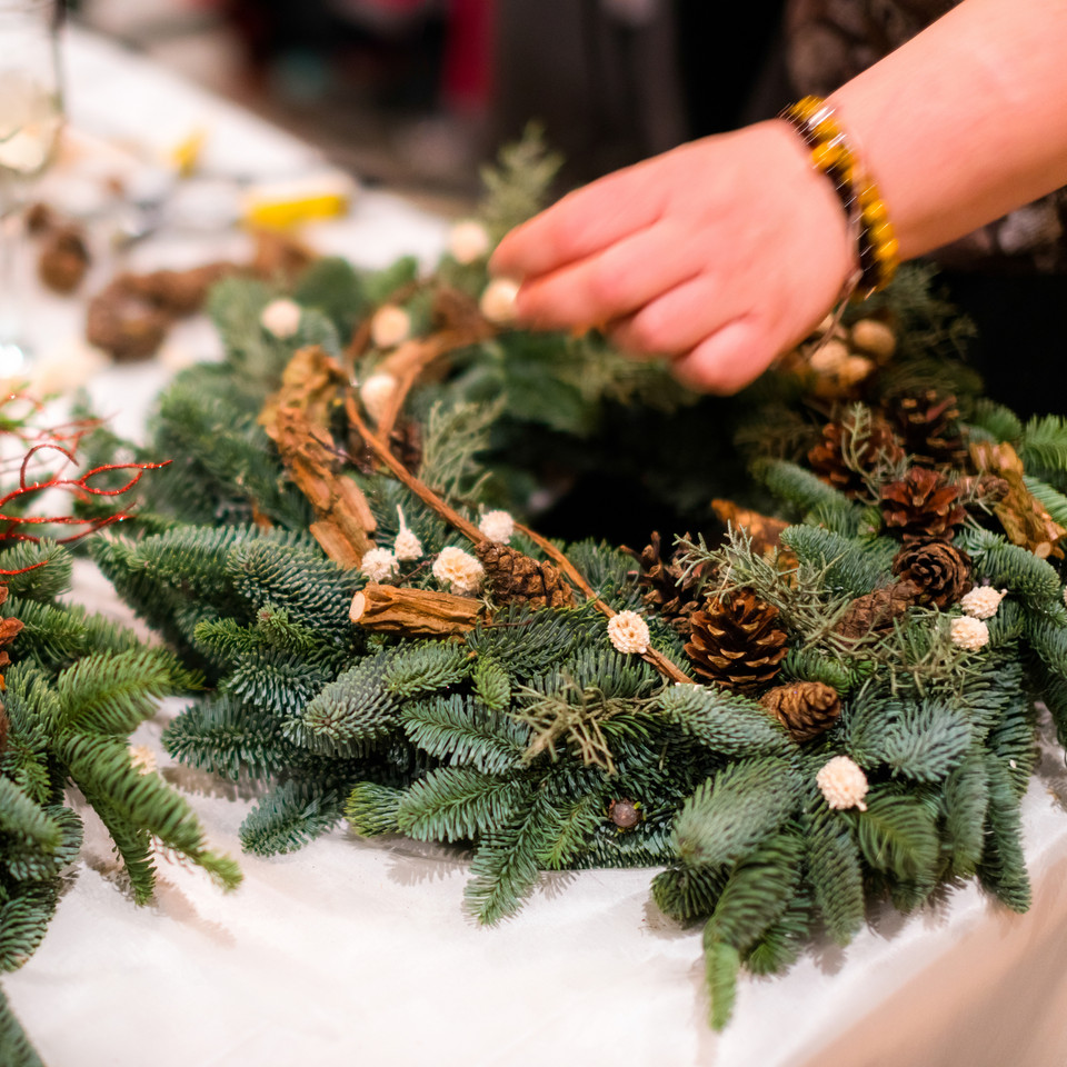 Christmas Wreath - Online Classes