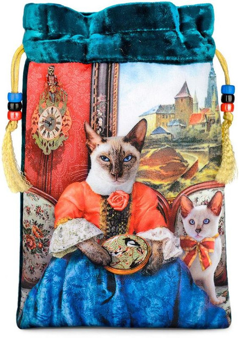 Baroque Bohemian Cats' Tarot Bag - The Siamese Needlewoman