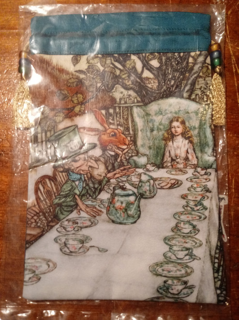 Alice in Wonderland Tarot Bag - 'Mad Hatter's Tea Party'