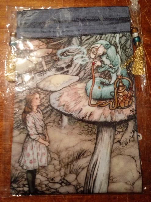 Alice in Wonderland Tarot Bag - 'Caterpillar Meets Alice'