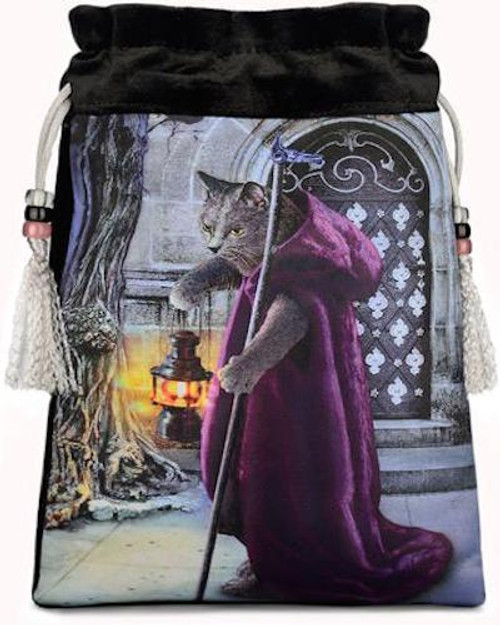 Baroque Bohemian Cats  - 'The Hermit' - Limited Edition Tarot Bag