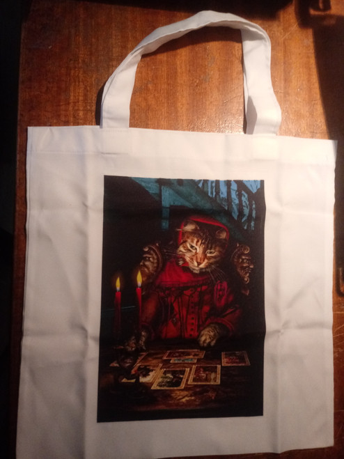 Baroque Bohemian Cats  - 'The Tarot Reader' - OOP Tote Bag
