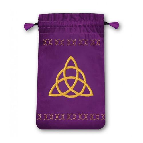 Mini Velvet Triple Goddess Tarot Bag