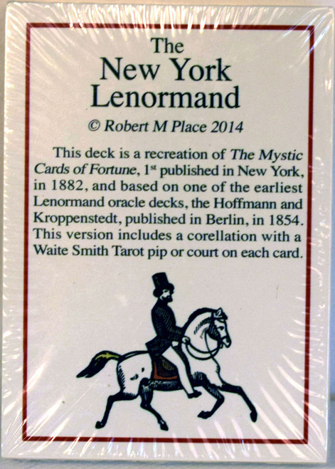 The New York Lenormand decks  (1 x black & white and 1 x coloured decks).