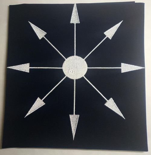 Chaos Star Embroidered Tarot Cloth