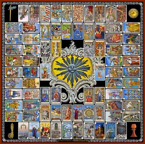 Tarot of Prague Scarf - Black Sun