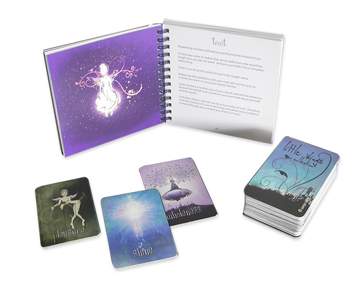 Little Wings Collection Guidance Oracle Cards (Grey Organza Bag)