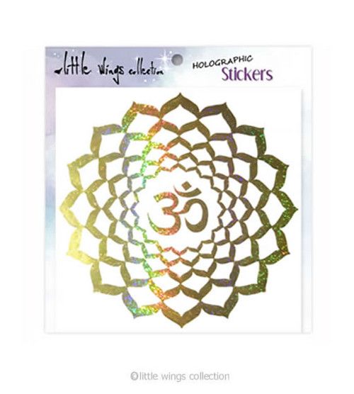 Om Lotus – Holographic Stickers