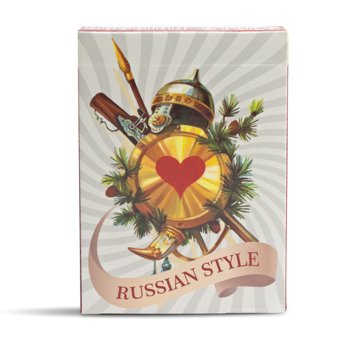 Russian Style Playing Cards - Red