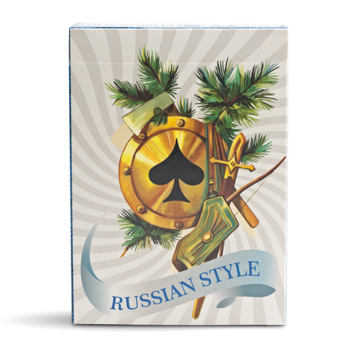 Russian Style Playing Cards - Blue