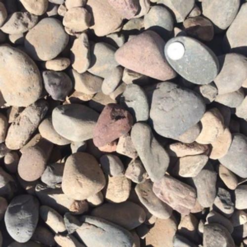"River Rock Bagged 1"" - 3"" (50 lbs)"