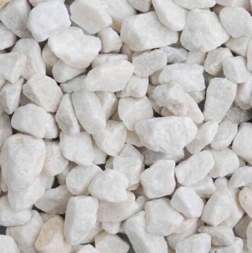 "White Dolomite 9/16"" - 1"" Bagged (50 lbs)"