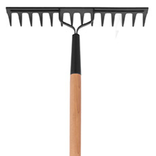 """Level rake, double back, 14 tines, 60"""" hdle, Practica"""