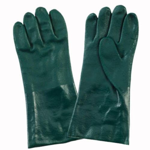 """DOUBLE DIP PALM COATED 14"""" GAUNT GREEN PVC"""