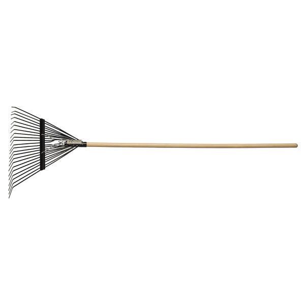 Steel Springback Lawn Rake 22 Tines Hardwood Handle (LLR22)