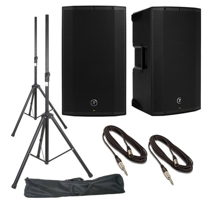 Mackie Thump12A (Pair) With Stands, Stand Bag & Cables