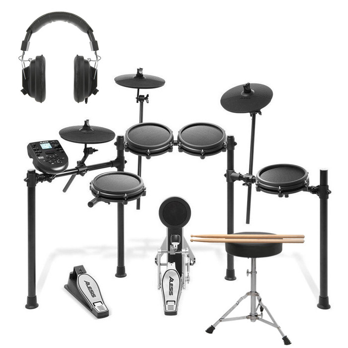 Alesis Nitro Mesh Kit With Sticks, Stool & Headphones