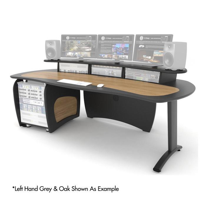 AKA Design ProEdit With 12U Rack & Jointer Kit – LH (Grey & Walnut)