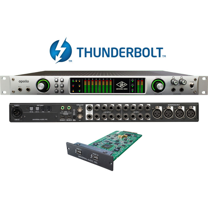 Universal Audio Apollo Quad with Thunderbolt 2 Card Fitted