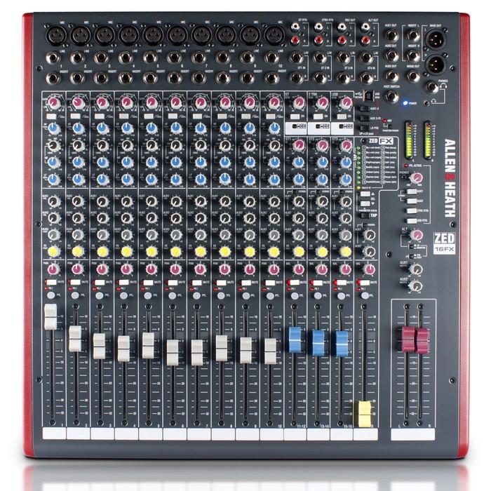 Allen & Heath ZED-16FX Mixer Front