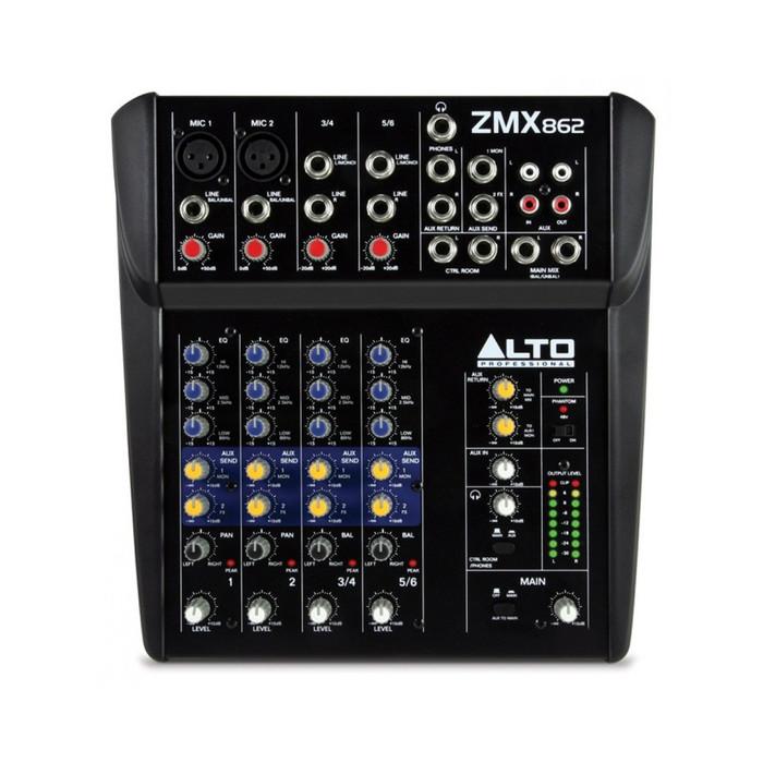 Alto ZEPHYR ZMX862 Mixer Front