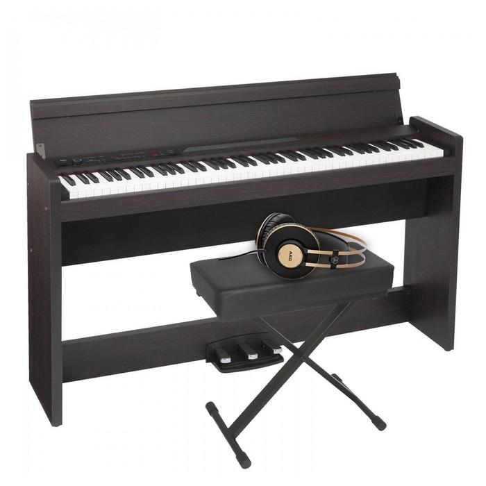 Korg LP-380U (Rosewood) With Stand, Bench & Headphones