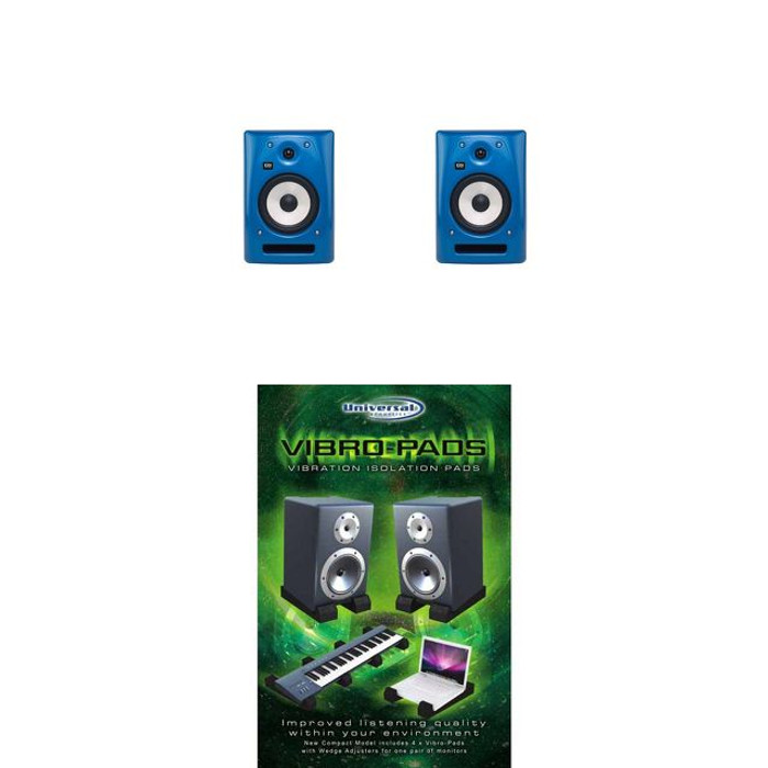 KRK Rokit RP6 G2 - Blue (Pair) with Vibropads