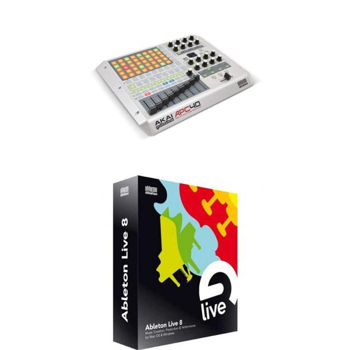 AKAI APC40 White & Ableton Live 8 (With FREE Ableton 9 Upgrade When Released)