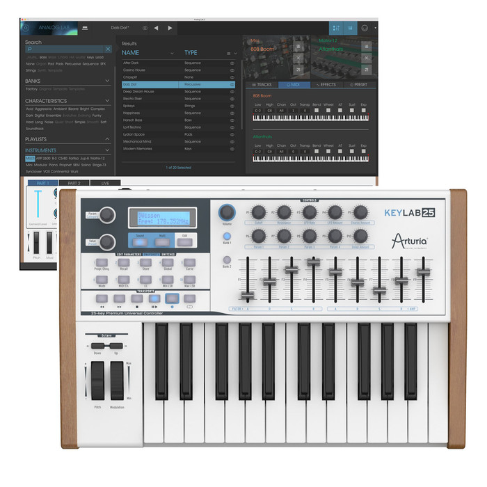 Arturia Keylab 25 MIDI Keyboard With Software