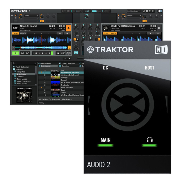 Native Instruments Traktor Audio 2 Mk2 With Traktor LE