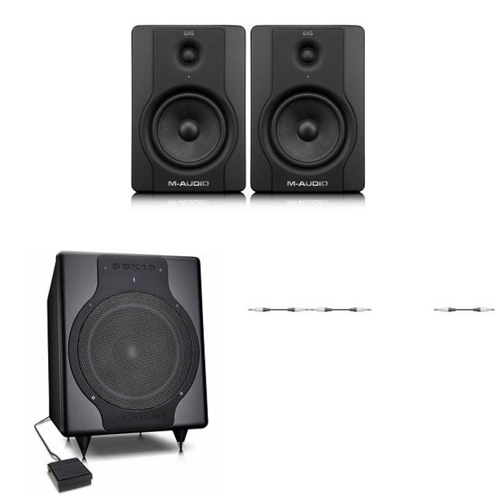 M-Audio BX5 D2 Studio Monitors & SBX10 Sub Bundle
