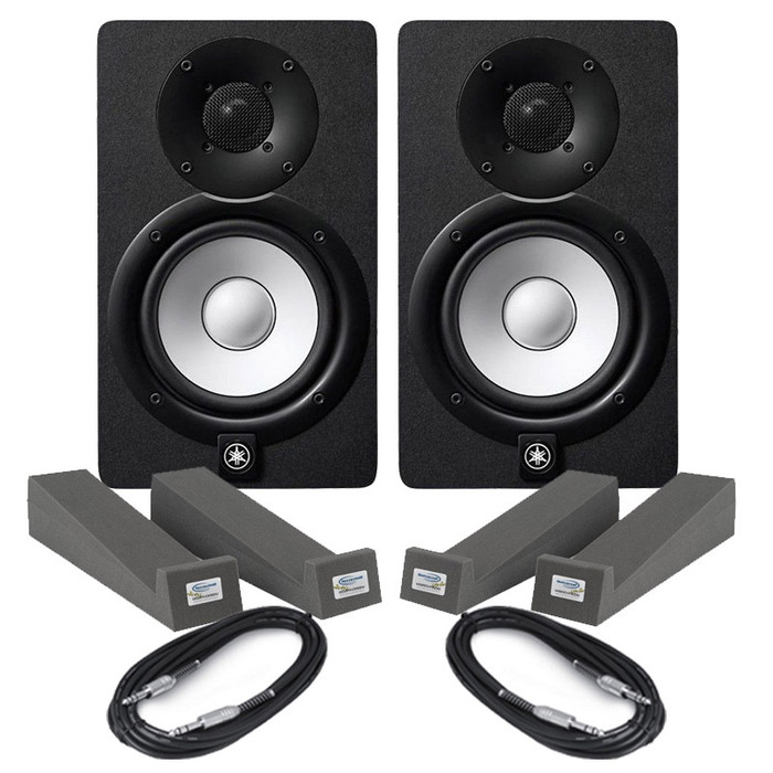 Yamaha HS7 Black (Pair) With Isolation Pad & Cables
