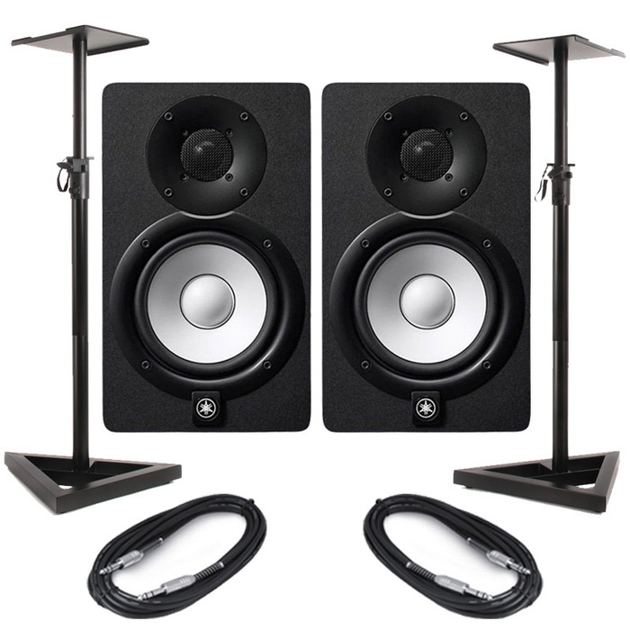 Yamaha HS5 (Pair) With Stands & Cables