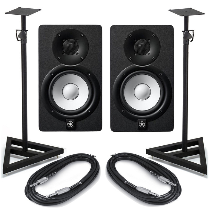 Yamaha HS7 Black (Pair) With Stands & Cables