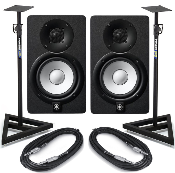 Yamaha HS8 With Stands and Cables