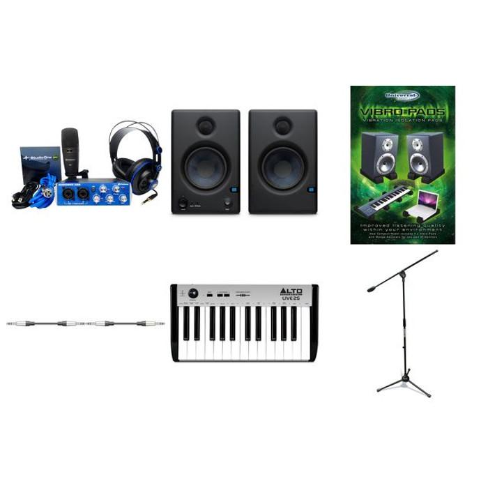 Presonus Audiobox Studio Pack With Eris E4.5 Monitors & USB Keyboard