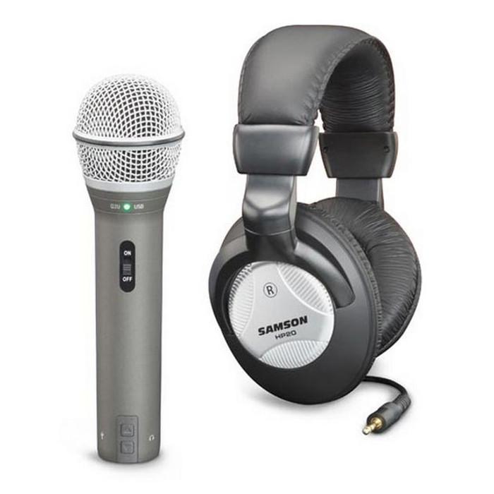 Samson Q2U USB Mic & HP20 Headphones Recording Pack