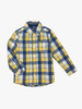 Blue and Yellow Plaid Button-Front Shirt, Toddler Boys