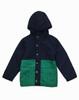 Navy Green Colorblock Jacket, Little Boys