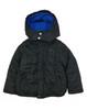 Black Hooded Bubble Jacket, Little Boys