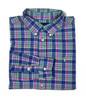 Pink/Blue Multi-Color Button-Down Shirt, Little Boys