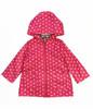 Pink Polka Dot Rain Jacket, Baby Girls