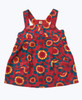 Red & Teal Floral Corduroy Jumper Dress, Baby Girls