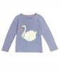 Heather Lilac Swan Shirt, Little Girls