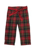 Holiday Red and Green Plaid Pants, Toddler Girls
