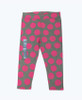 Pink Polka Dot Leggings, Toddler Girls