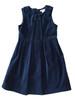 Blue Velour Holiday Dress, Little Girls